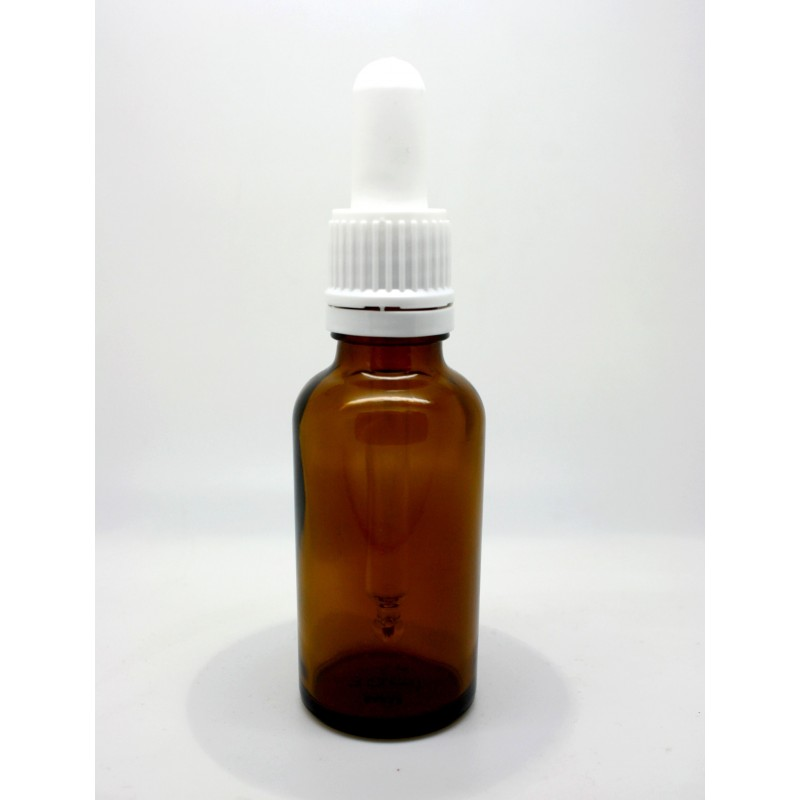 Skleněná lahvička s kapátkem, 30 ml