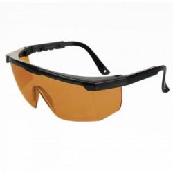Brýle kouřové, bezpečnostní s černými poloobroučkami