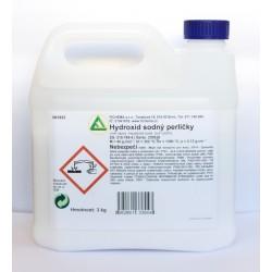 Hydroxid sodný / louh - perličky 3 kg, NaOH, 99 %, CAS...