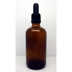 Skleněná lahvička s černým kapátkem, 100 ml