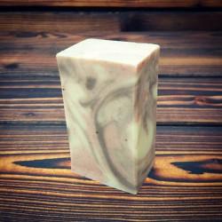 Kakaové mýdlo s mandlovým olejem a růžovým jílem